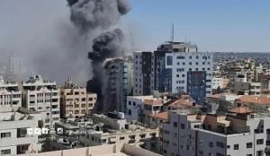 gedung media di gaza hancur